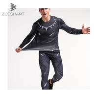Zeeshant Men S Thermal Underwear Set Compression Tight Top Bottom Hot Dry Technology Print Slim Fit
