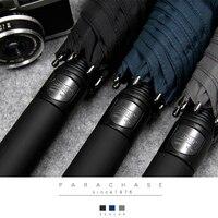 Gray Rain Strong Glass fiber Business Umbrella Men Windproof 8 Ribs Large Long Handle Umbrellas Paraguas Big Umbrella Male Z629