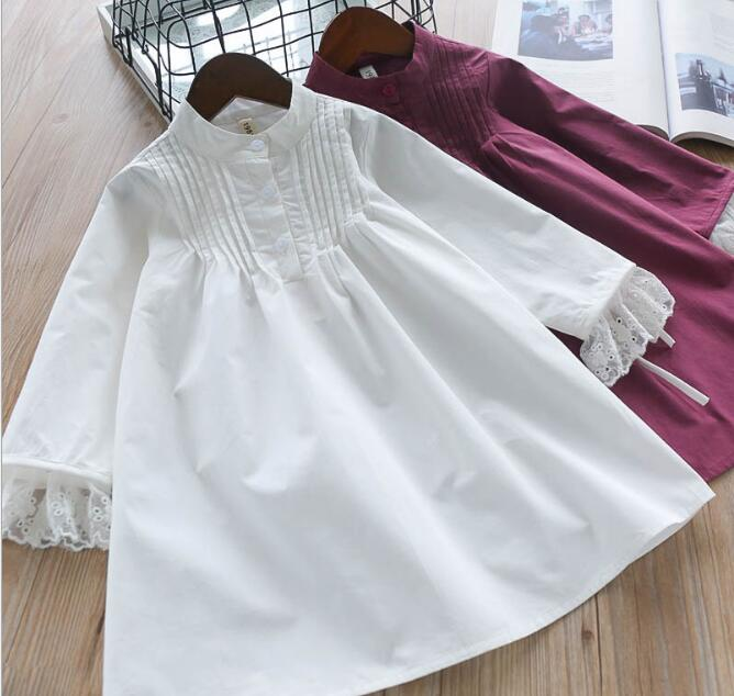 Spring Girls Lace Ruffles Dresses Kids girl Princess Long sleeve Dress Baby Girl Clothes Children Clothing bebe clothes