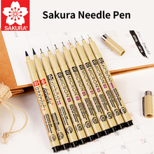 Buy SAKURA Waterproof Neddle Pen Painting Brushes Set Hook Lin Pen Art Supplies Student Stationery  directly from merchant!