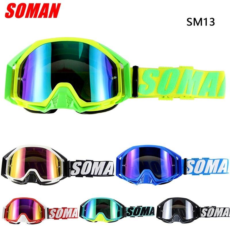 Soman moto cross lunettes moto cycle lunettes mx dirt vélo cyclisme okulaire occhiali moto SM13