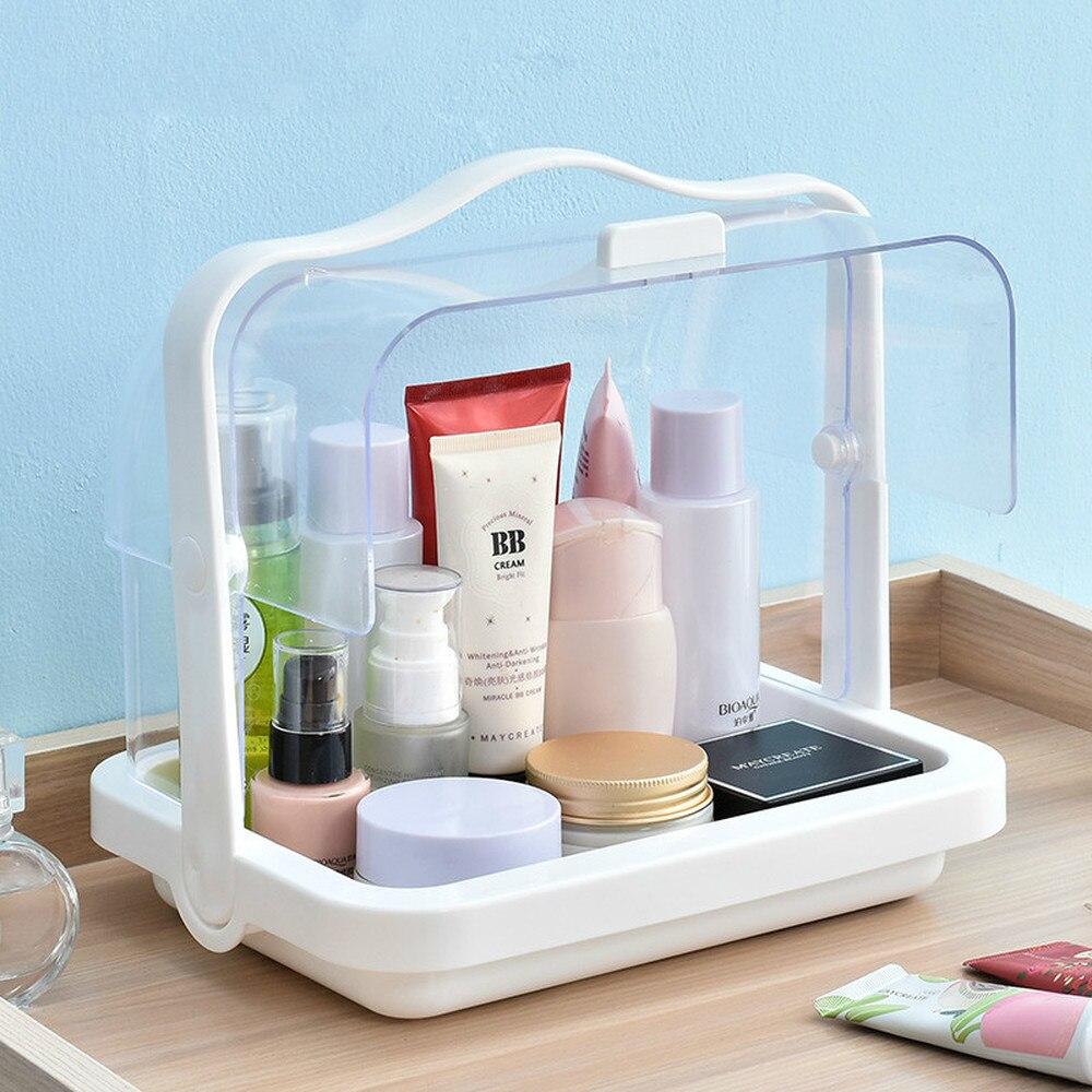 Cosmetic storage box transparent portabl