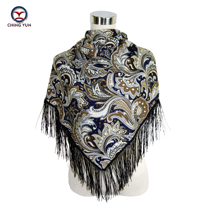 CHING YUN women warm winter scarves large fringed shawl flowers bandanas hijab cotton echarpe shawl scarf triangle Ladies pri in Women 39 s Scarves from Apparel Accessories