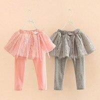 Trẻ em Xà Cạp Quần Cô Gái Váy-quần Cô Gái Tutu Bánh Váy Baby Girl Ren Quần với Ribbon Nơ Quần Cotton bé Xà Cạp