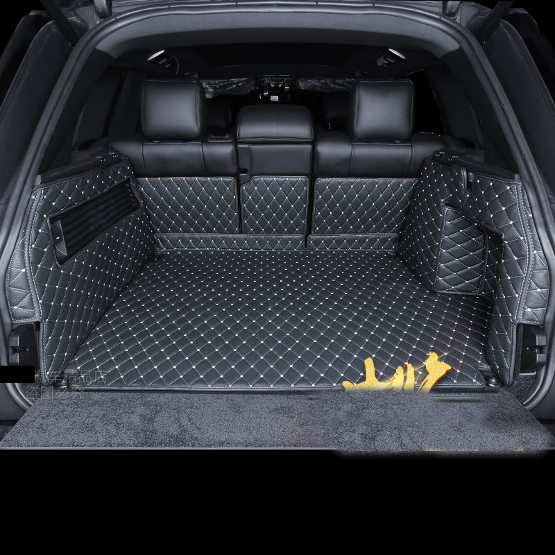 lsrtw2017 luxury fiber leather car trunk mat for range rover 2014 2015 2016 2017 2018 2019 2020 range rover sport L494 l405