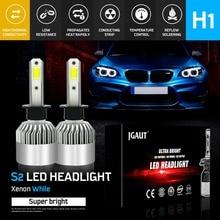 Modifygt S2 H7 H4 H11 H1 H3 9005 9006 72W 8000LM 6500K 12v COB Car LED Headlight Bulbs Hi-Lo Beam Auto Headlamp car accessories