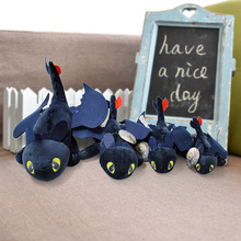 25-53cm 10-24 How To Train Your Dragon 2 Toothless Plush Toy Black Soft Dolls Toys For Children Gift Christmas