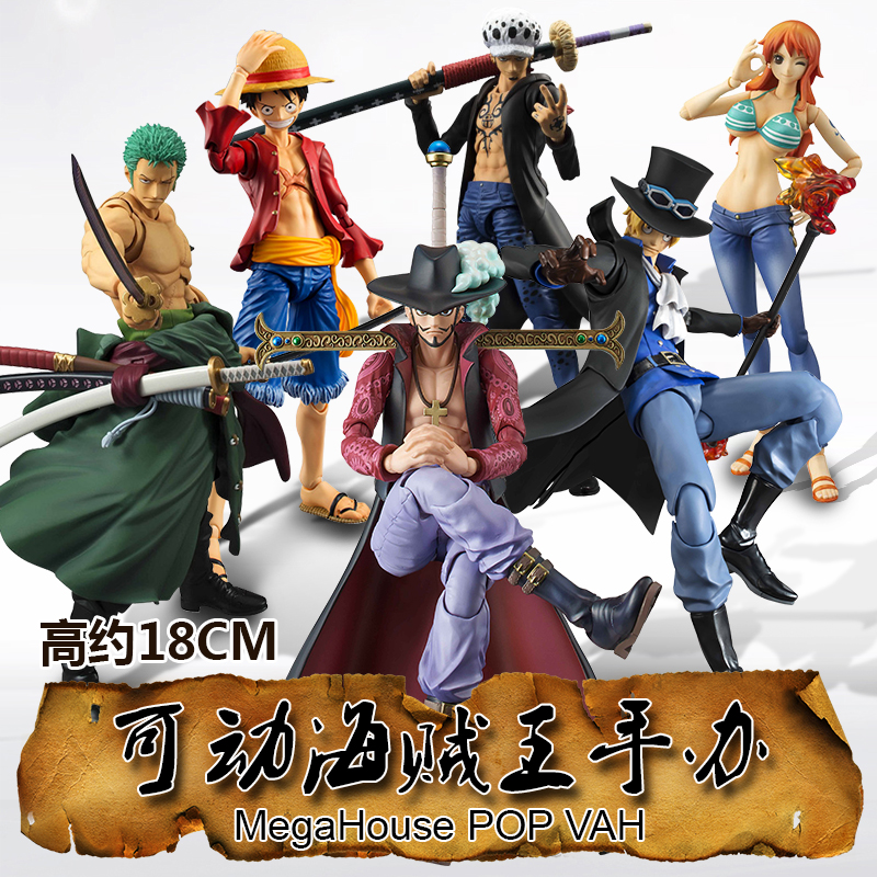 Anime One Piece Hawkeye Saab Nami Luffy Figure SHF PVC 18CM S.H.Figuarts Collectible Toys Roronoa Zoro Model Toys Ace onepiece