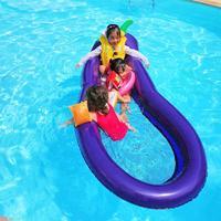 Summer Inflatable Pool Float Circle Mattress Swimming Eggplant Swim Ring Super Large Seat Boat Raft Summer Water Fun Pool Toys