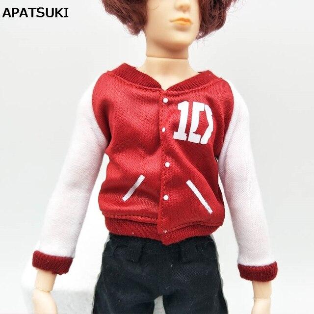 Мода 1:6 кукольная одежда белого и красного цвета пальто для Ken топ в кукольном стиле для Барби парень Кэн принц кукла мужского пола 1/6 детские игрушки