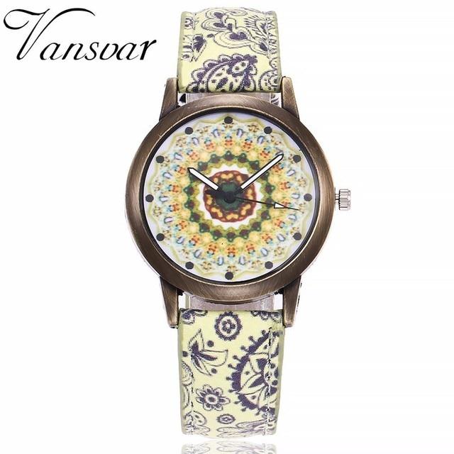 Dropshipping Women Creative Flower Watches Ladies Fashion Casual Leather Quartz Wristwatches Gift Clock Relogio Feminino Hot 5
