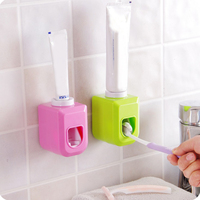 Automatic Toothpaste Squeezer Sticky Suction Pad Wall Mounted Convenient Toothpaste Dispenser Bathroom Accessories