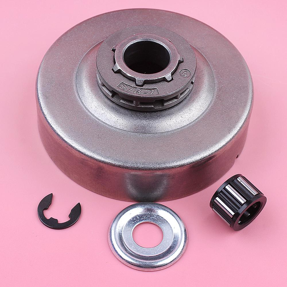 Clutch Drum 3/8 7 Teeth Sprocket Rim For Stihl MS361 044 046 MS440 MS460 Needle Bearing Clip Washer Chainsaw 1128 007 1000