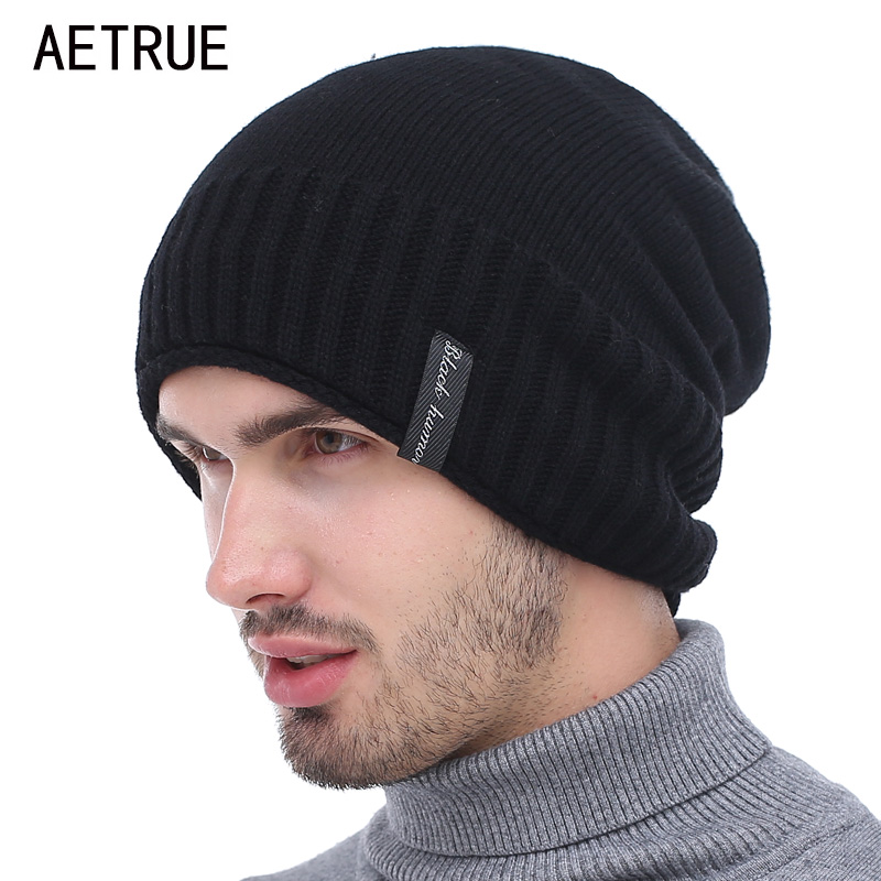 Knitted Hat Men Winter   Beanies   Caps Gorras Bonnet Plain Warm Baggy Blank Winter Hats For Men Women Plus   Skullies     Beanies   Hats