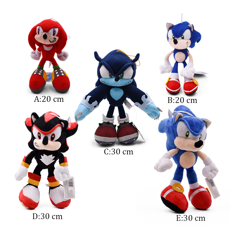 5 Styles Sonic World Adventure Sonic the Werehog Soft Doll C…