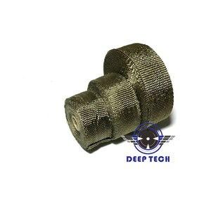 Image 4 - 15 M/50ft Auspuff Wrap Für Motorrad Auspuff Rohr Header Auspuffrohr Wrap Wrap T 6 Pcs kabel Krawatten
