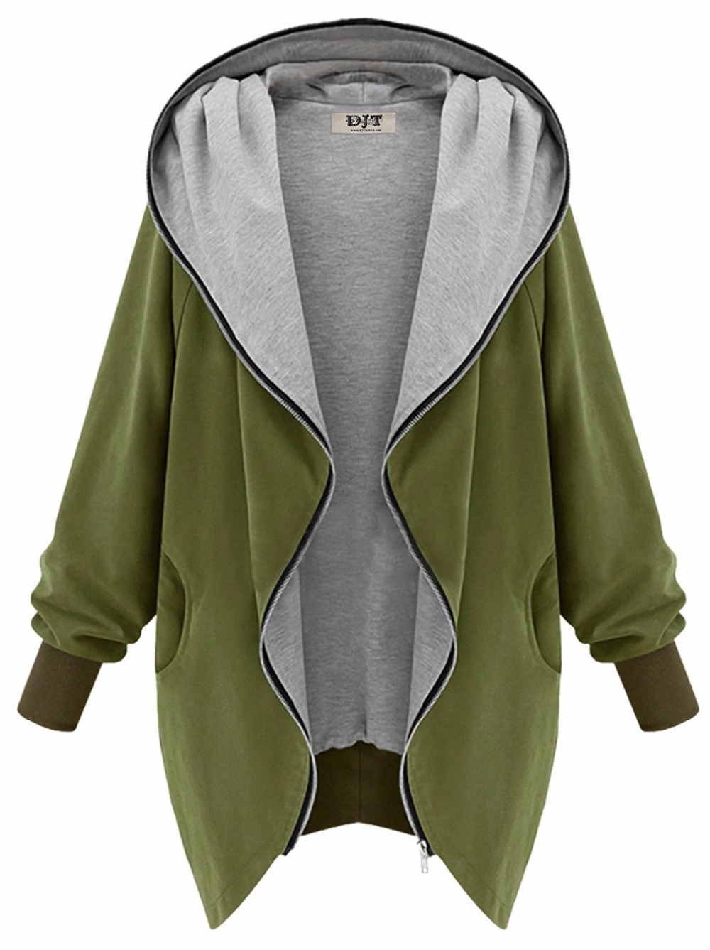0ee19cb6d ツ)  ¯Europe and America Fashion Casual Hooded Large Size Women ...