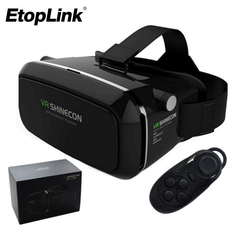 100% Оригинальные VR shinecon виртуальной реальности 3D Очки шлем VR коробка фильм для Samsung 4.7 ~ 6 дюймов смартфон + беспроводной геймпад 1.0