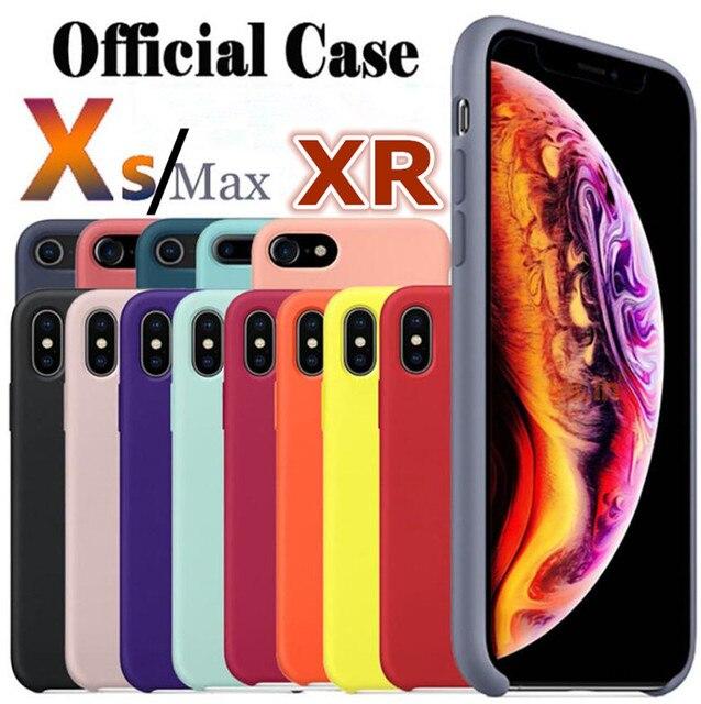 Para iphone Xs Max caso IMD la piel de silicona líquida logotipo oficial protección y estilo para iphone XS XR Xs. 5,8/6,1/6,5 pulgadas
