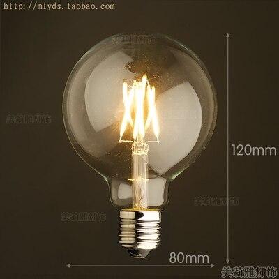4 Вт E27 220 В светодиодный светильник для декора, лампада Эдисона, винтажный декоративный светильник с ампулами T10 G80 G95 ST64 T225 T30 - Цвет: Золотой