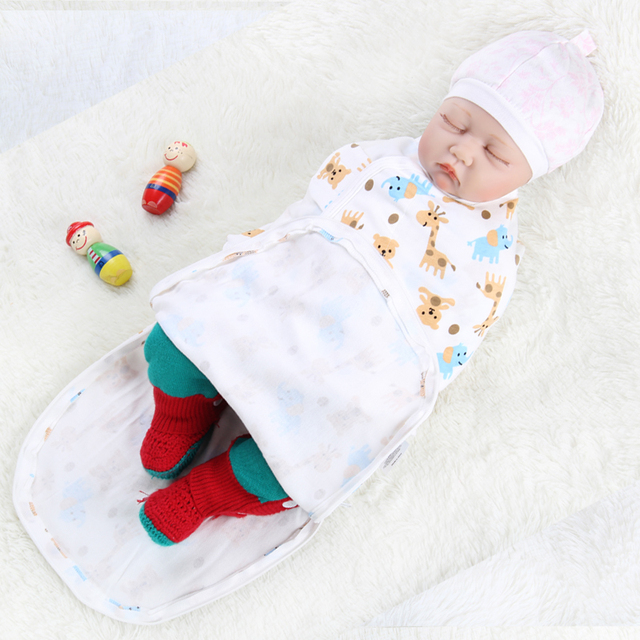 Newborn Baby Wrap Blanket Soft Infant Swaddle Parisarc Cotton