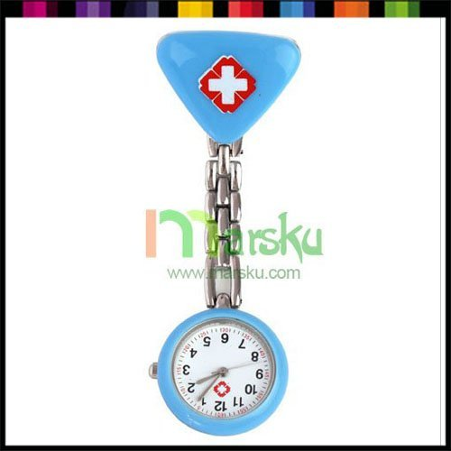 Wholesale Nurse Doctor Triangle Pendant Clip Pocket Dial Watch / pocket watch / nurse watch #3063
