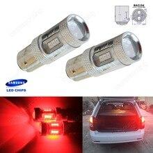 Фотография Red 566 P21/4W 1122 BAZ15d Bulb SAMSUNG LED Indicator Fog Tail Stop Brake Light(CA314)