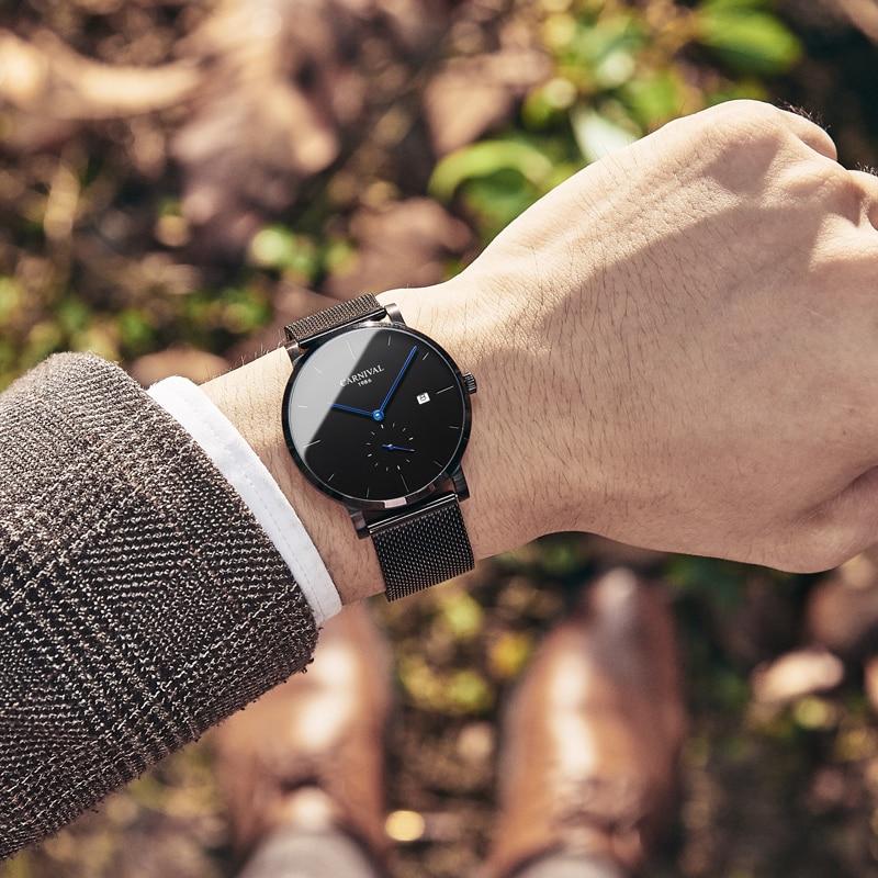 Mens orologi top brand di lusso relojes automaticos hombre 2019 relogio masculino impermeabile reloj hombre relógios masculinos-in Orologi meccanici da Orologi da polso su  Gruppo 2