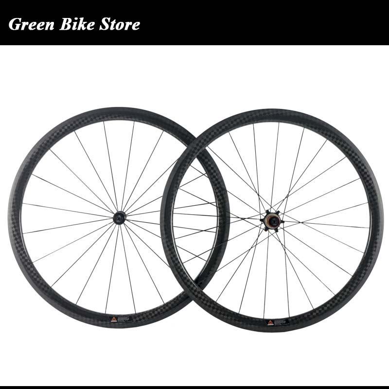 New arrival 38mm tubuless 25mm width carbon wheelset 700C road bicycle full carbon clincher 12k carbon wheelsNew arrival 38mm tubuless 25mm width carbon wheelset 700C road bicycle full carbon clincher 12k carbon wheels