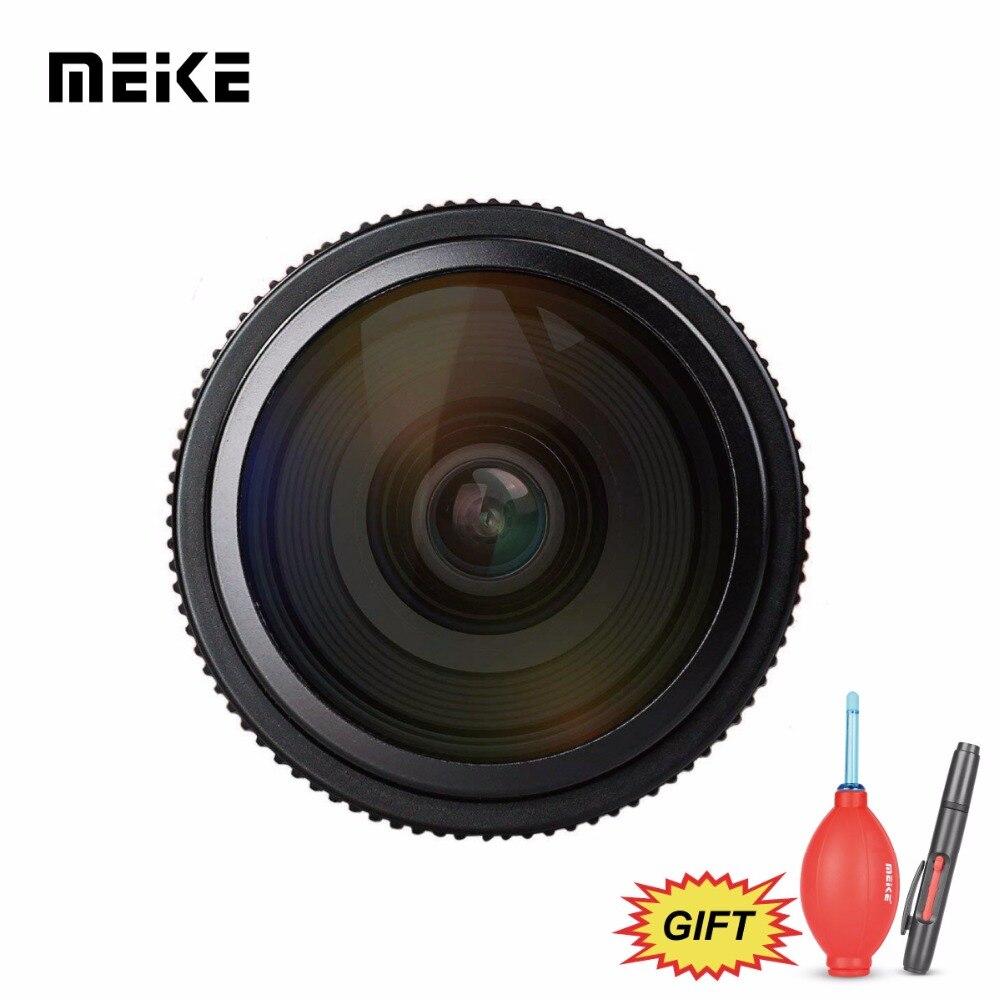 Meike 6,5mm Ultra Wide f/2,0 lente ojo de pez Circular para A6000, A6100, A6300, Nex3, nex3n, Nex5, Nex5t, Nex5r, Nex6, Nex7 Cámara + regalo