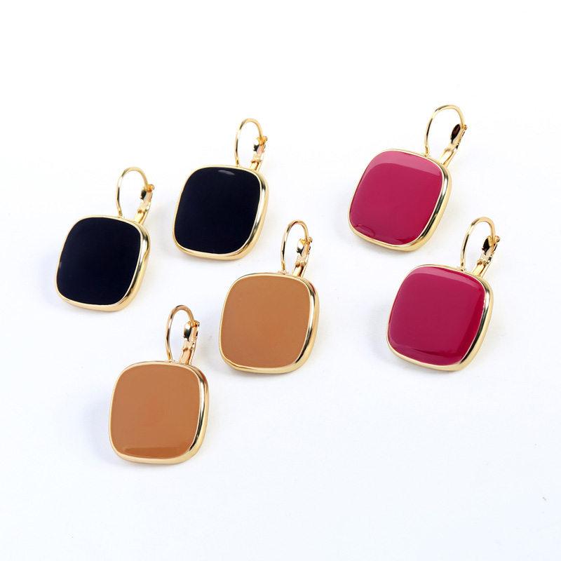 free shipping 12 pair/lot fashion women jewelry accessories square earrings for women thumbnail