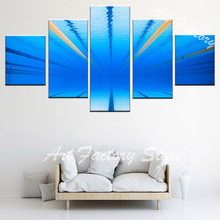 Pool underwater art photography Designs Poster Canvas painting Pictures for Living Room 5 Panels Wall Art home decor FJ-53(China)