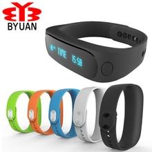 Byuan умный Браслет Bluetooth 4.0 Водонепроницаемый спортивные часы анти-потерянный шагомер/SMS напоминание браслет для Iphone для Xiaomi Redmi