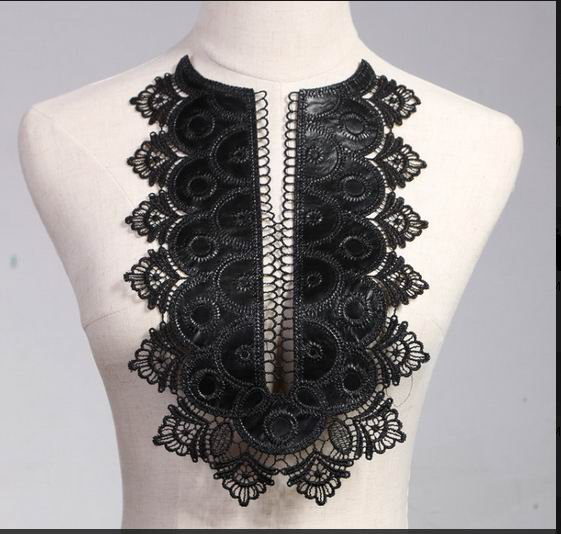 1 PCS Broderi Collar Venise Lace Blommor Halsband Applique Trim, spets tyg sy Supplies