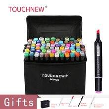 Touchnew 30/40/60/80 Kleuren Art Markers Alcohol Gebaseerd Markers Tekening Pen Set Manga Dual Headed Art Schets marker Ontwerp Pennen