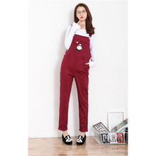 Daddy Chen Maternity Bib Pants Overalls for Pregnant Women Jumpsuit Clothing Cartoon Pattern Rompers Plus Size