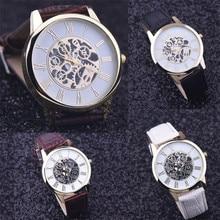 2017 Rome Digital Leather Band Analog Dial Quartz Wrist Watch  relogio feminino Christmas  hot sales  free shipping #30
