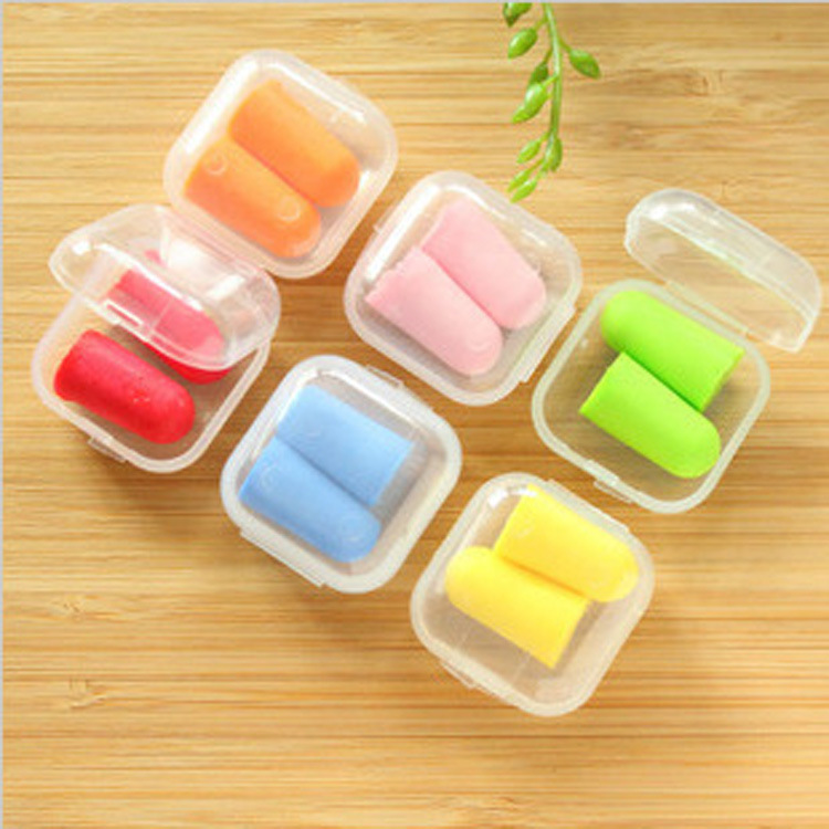 1 Box Comfort Earplugs Noise Reduction Foam Soft Ear Plugs Noise Reduction Earplugs Protective For Sleep Slow Rebound Earplugs