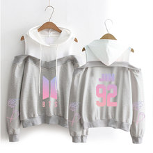 New BTS Personality Off-Shoulder Hoodie