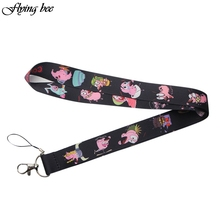 Flyingbee Courage the cowardly Dog Funny Lanyard Badge ID Lanyards/ Mobile Phone Rope/ Key Lanyard Neck Straps Accessories X0103