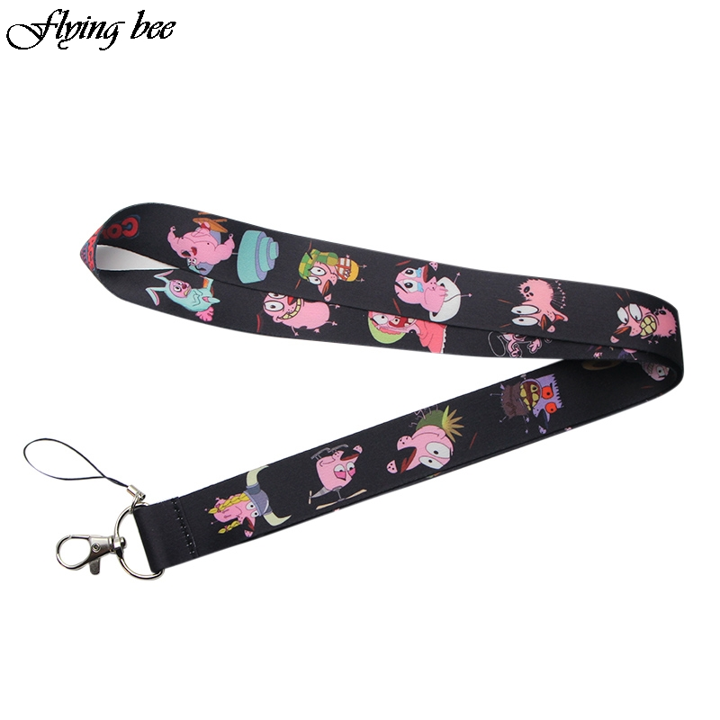Flyingbee Creative Theme Cartoon Funny Lanyard Badge ID Lanyards/ Mobile Phone Rope/ Key Lanyard Neck Straps Accessories X0103
