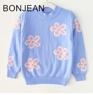 2018 new autumn and winter Girls base knit sweater sets children plus velvet thick bnn25