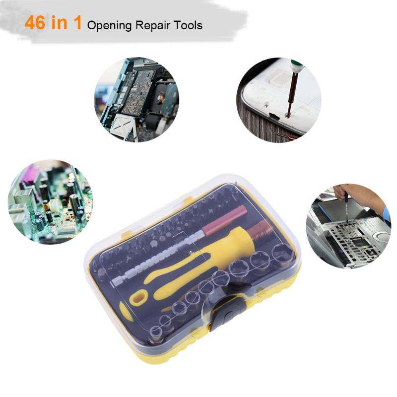 46 in 1 Phone Repair Tools Set Precision Torx Screwdriver Set for Phone Laptop Cell Mobile phone Electronics Hand Tool