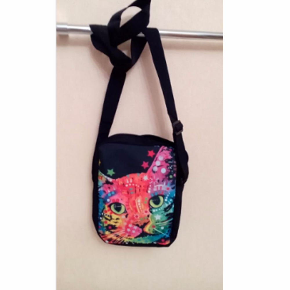 forudesigns colorido gato animal cão Name : Winx Club Pattern School Bags