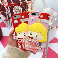Lovely Pinch Face Little Girl Case For IPhone 6 Plus 3D Cartoon Phone Case For IPhone