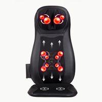 JinKaiRui Electric Back Massager Vibrate Cervical Massage Device Pillow Neck Full body Home Car Office Chair Massj Heated Relax