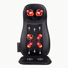 JinKaiRui Electric Back Massager Vibrate Cervical Massage Device Pillow Neck Full-body Home Car Office Chair Massj Heated Relax