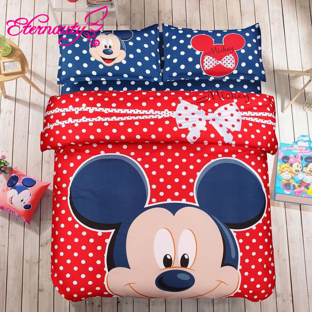 8Choice Boys Kids Bedding Sets Summer Style Anime Bedding Sets Mickey And Minnie Duvet Cover Set Bedspreads Bed Linen Mouse