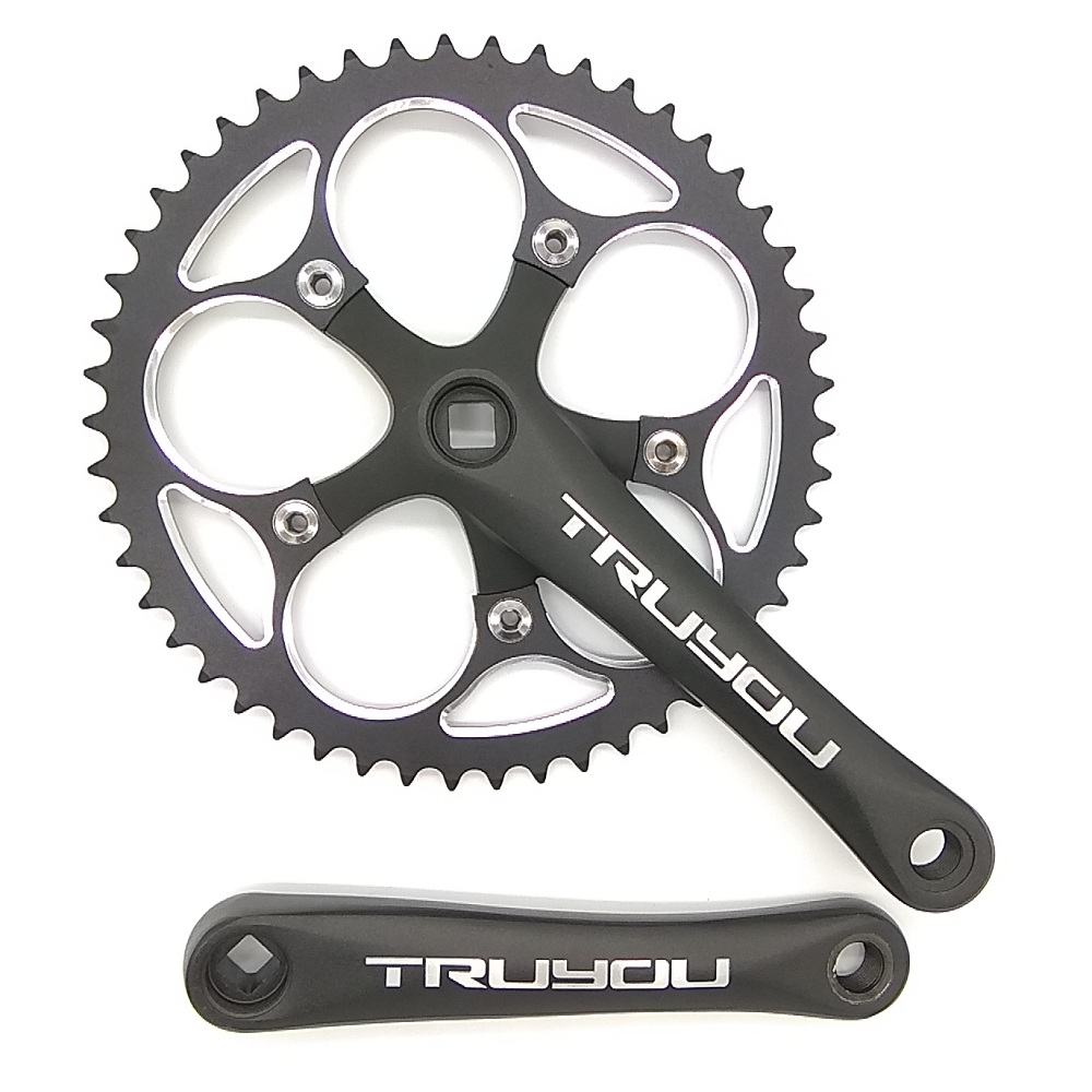цена на TRUYOU Road Bicycle Crankset BCD110 44T 46T 48T 50T 52T 53T Chainwheel 3/32 Folding Bike Chain Ring 7/8/9/10 Speed Crank 170mm