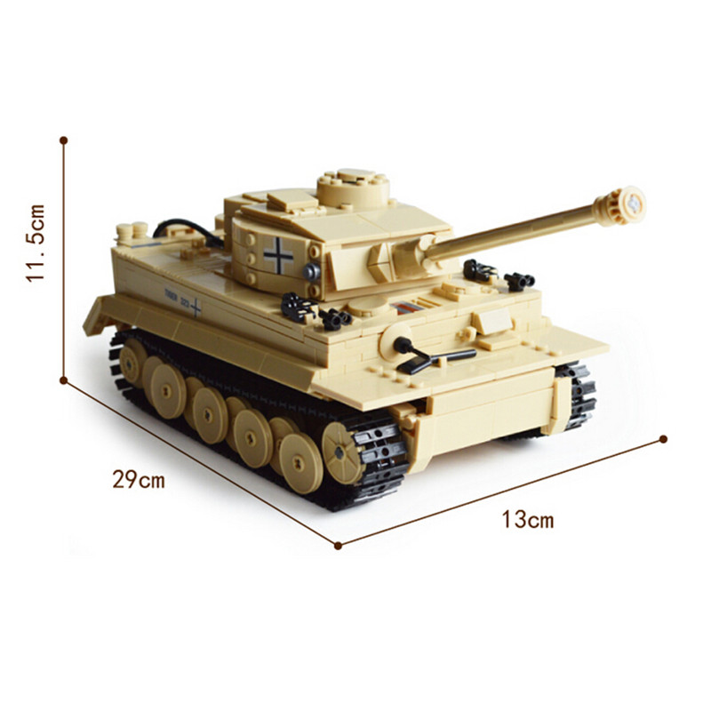 Century Military Building Block German King Tiger Tank 82011 995pcs Model Enlighten Blocks Eductional Toys Compatible with lego kazi 995pcs century military german king tiger tank cannon building blocks bricks model sets aiboully 82011 toys compatible gift